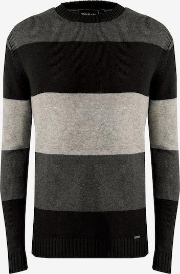 Finn Flare Pullover in grau / schwarz, Produktansicht