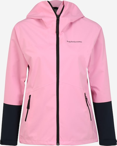 PEAK PERFORMANCE Outdoorjas 'Nightbreak' in de kleur Rosa / Zwart, Productweergave