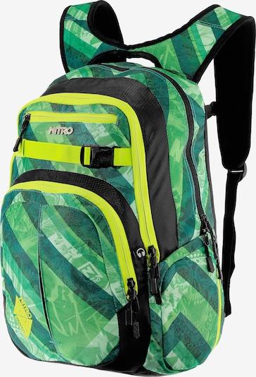 NITRO Rucksack in neongelb / grün / kiwi / schwarz, Produktansicht