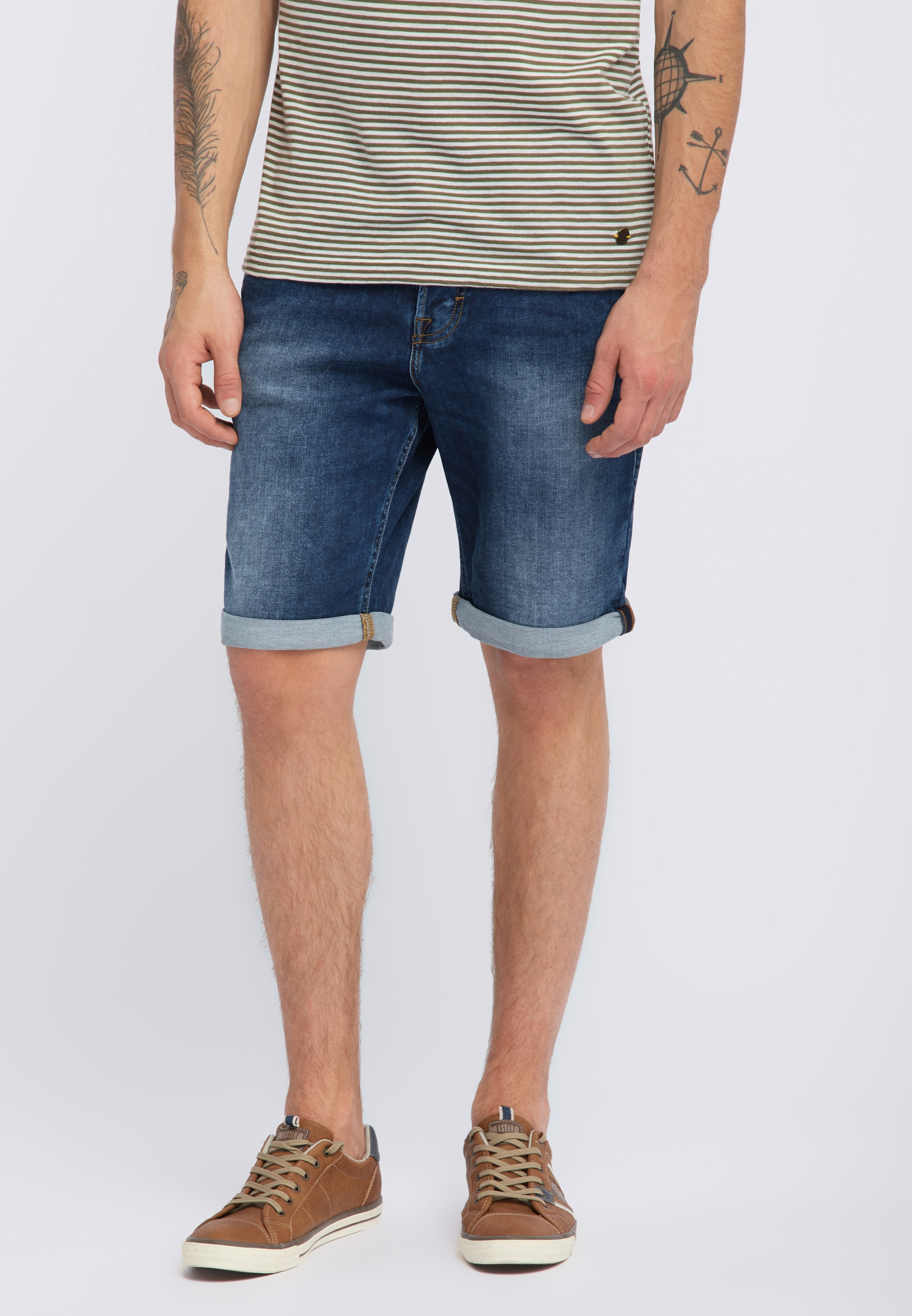 Mustang Denim Shorts Blue 'chicago' In 354RqAjL