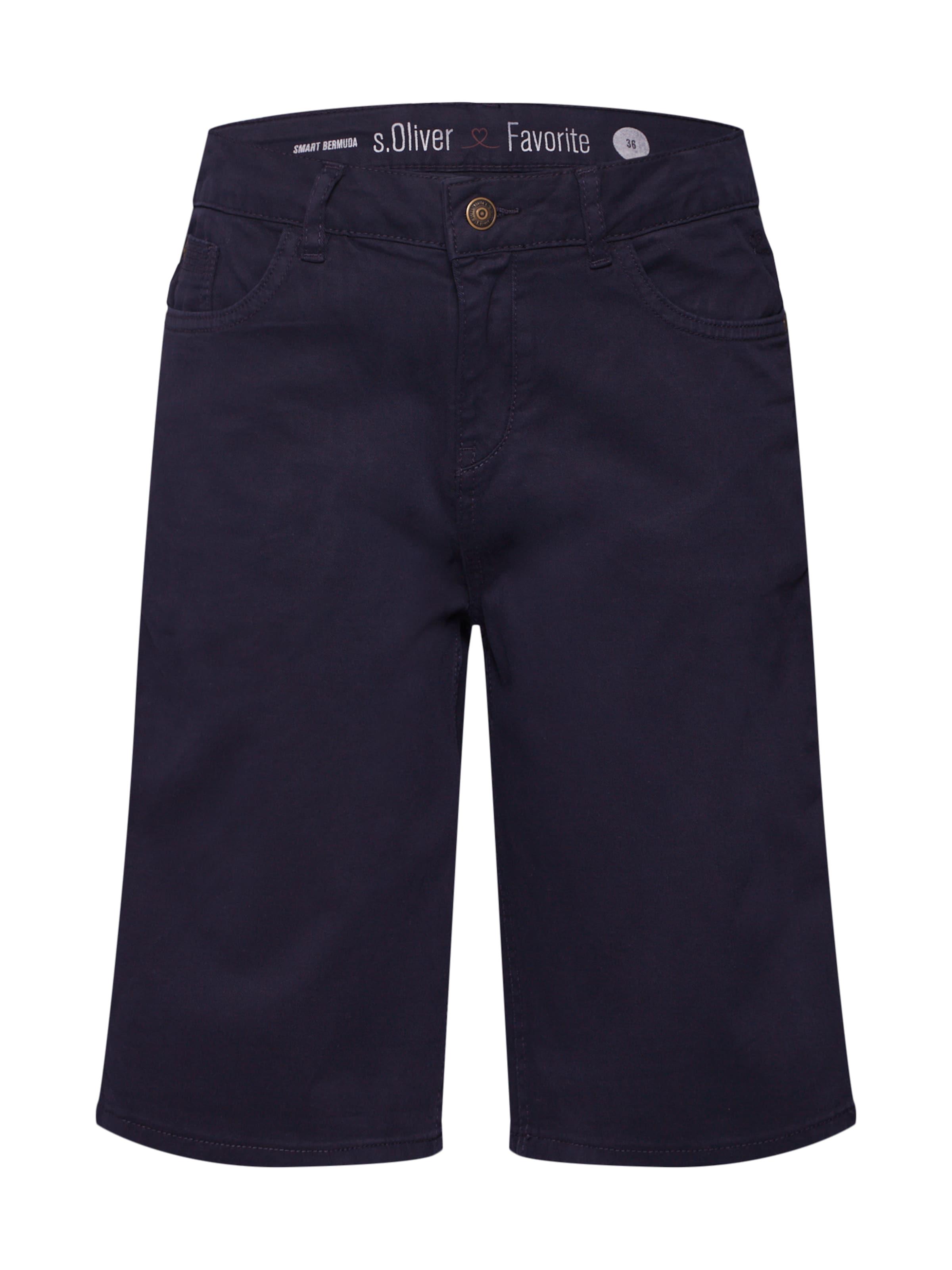 En Pantalon 'bermuda' Bleu Foncé Label S Red oliver xdBoWeQrC