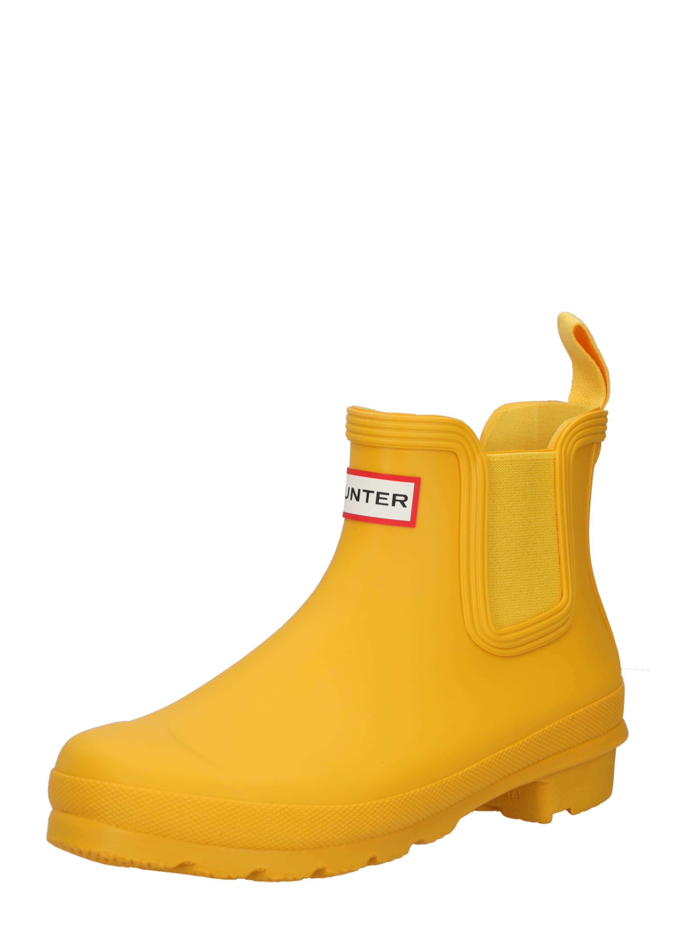 HUNTER Gummistövel i gul