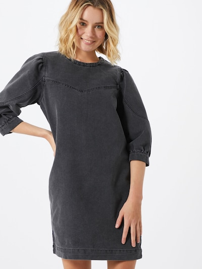 Noisy may Kleid 'Simone' in grey denim, Modelansicht