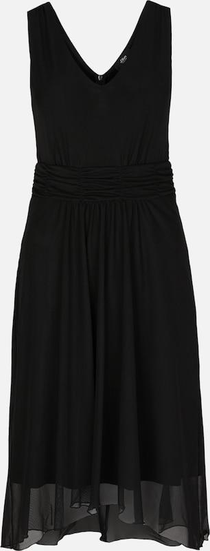 S.Oliver schwarz LABEL Mesh-Kleid mit High-Low-Saum in schwarz  Neue Kleidung in dieser Saison