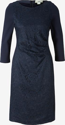 Trumpa kokteilinė suknelė iš heine , spalva - tamsiai mėlyna jūros spalva: Vaizdas iš priekio