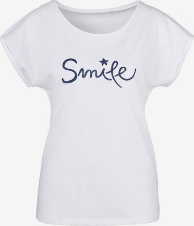 BEACH TIME T-Shirt in weiß, Produktansicht
