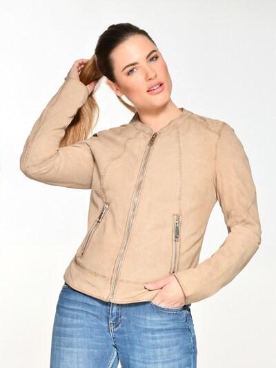 Maze Lederjacke perforiert ' Mabel ' in beige, Produktansicht