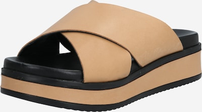 SHABBIES AMSTERDAM Muiltjes 'SLIPPER WITH COVERED WEDGE SOFT' in de kleur Sand, Productweergave