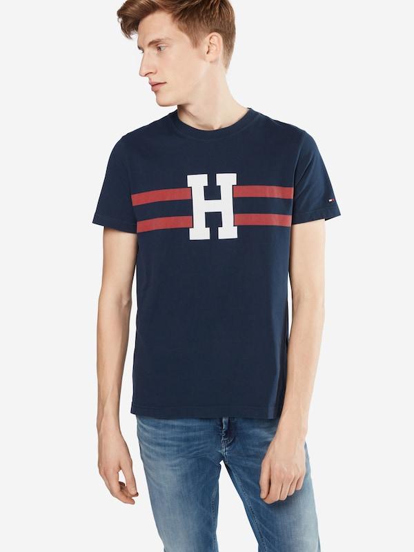 Tommy hilfiger t shirt mit logo buchstaben 39 brad 39 in blau for Mobel 9 buchstaben