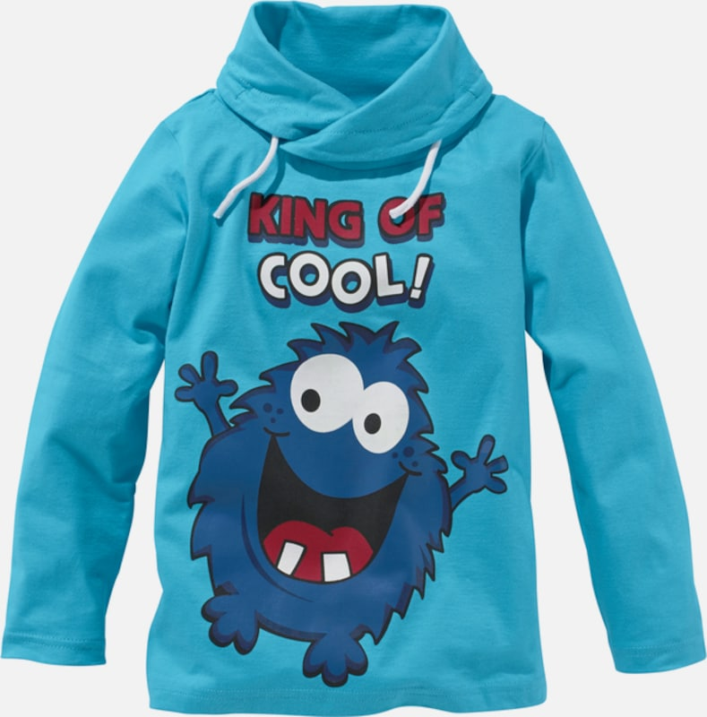 colors for life langarmshirt king of cool f r jungen in blau about you. Black Bedroom Furniture Sets. Home Design Ideas