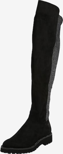 Ilgaauliai batai virš kelių 'Finja' iš bugatti , spalva - pilka / juoda: Vaizdas iš priekio