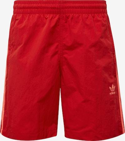 ADIDAS ORIGINALS Shorts '3-Streifen' in lachs / rot: Frontalansicht