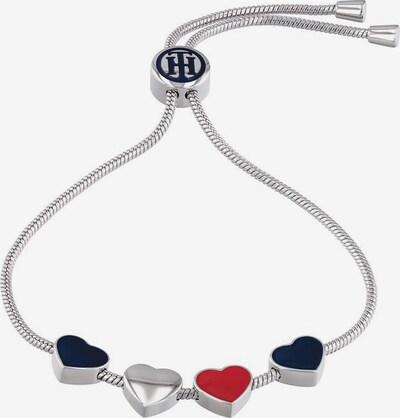 TOMMY HILFIGER Armband 'Casual Core' in silber, Produktansicht