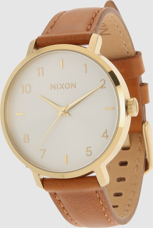 Nixon Analoge Armbanduhr 'Arrow Leather'