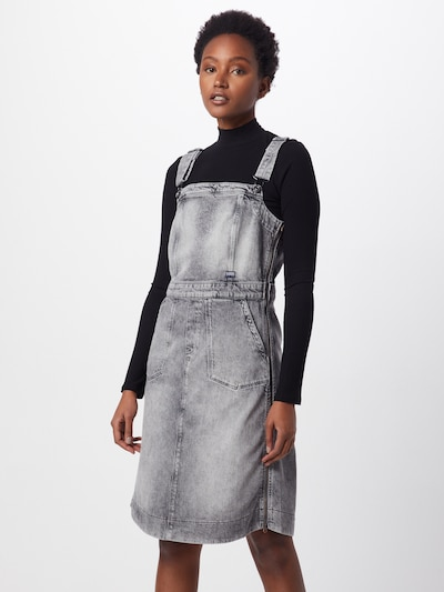 G-Star RAW Kleid 'Eyevi' in grey denim, Modelansicht