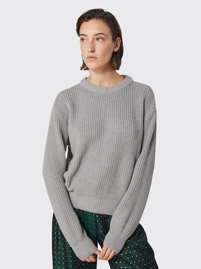 minimum Pullover 'Mikala' in graumeliert, Modelansicht