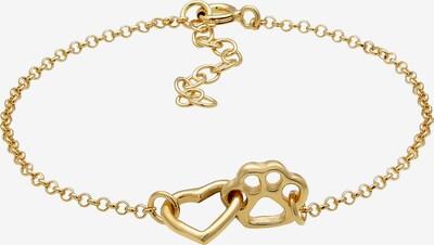 ELLI Armband Herz, Pfote in gold, Produktansicht