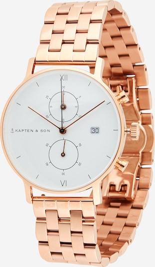 Kapten & Son Analógové hodinky - ružové zlato / biela, Produkt