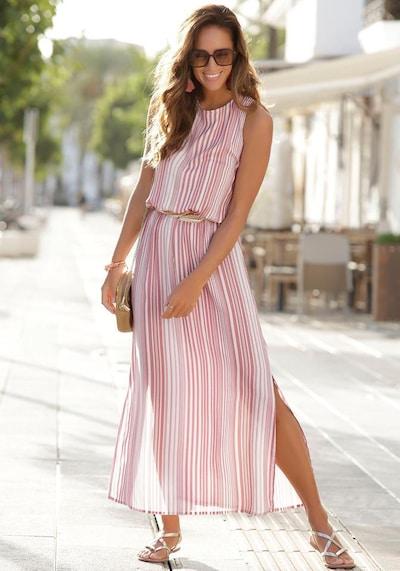 LASCANA Maxikleid in pink / weiß, Modelansicht