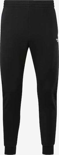 Reebok Classic Broek in de kleur Zwart / Wit: Vooraanzicht