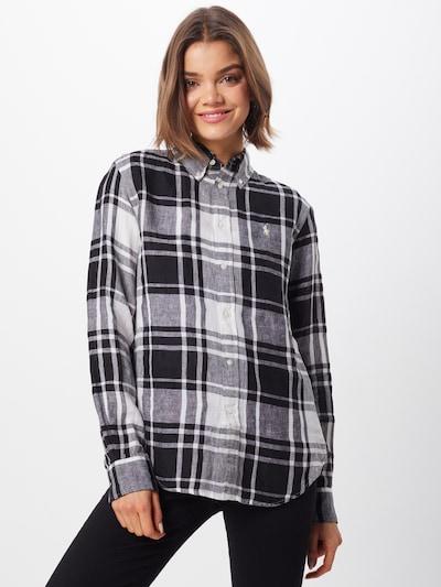 POLO RALPH LAUREN Bluse 'GEORGIA-CLASSICLONG SLEEVE-SHIRT' in schwarz / weiß, Modelansicht
