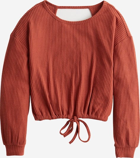 HOLLISTER Pullover 'XM19-LS BF NOTCH NECK BANDED BOTTOM 6CC' in rostrot, Produktansicht