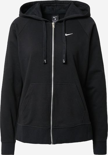 NIKE Sportief sweatvest in de kleur Zwart / Wit, Productweergave