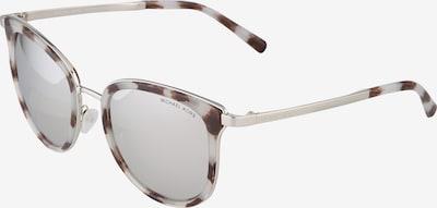 Michael Kors Sonnenbrille aus transparentem Kunststoff in silber, Produktansicht