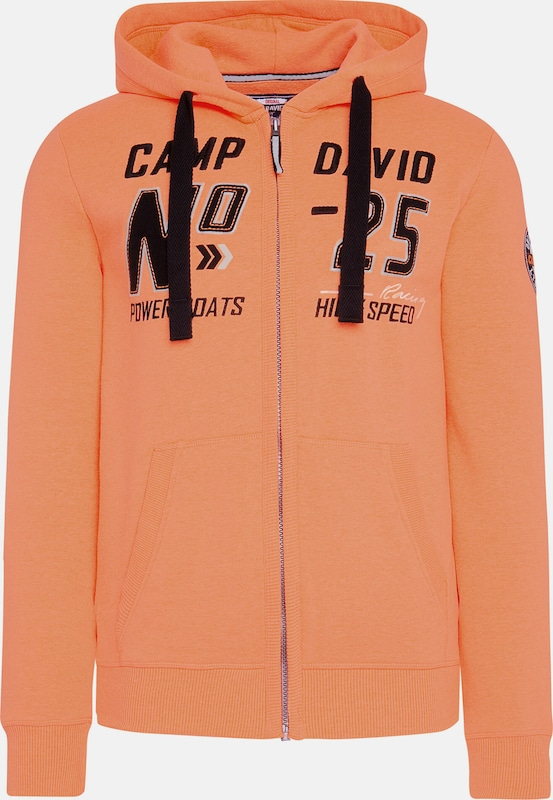 CAMP DAVID Hoodie in orange, Produktansicht
