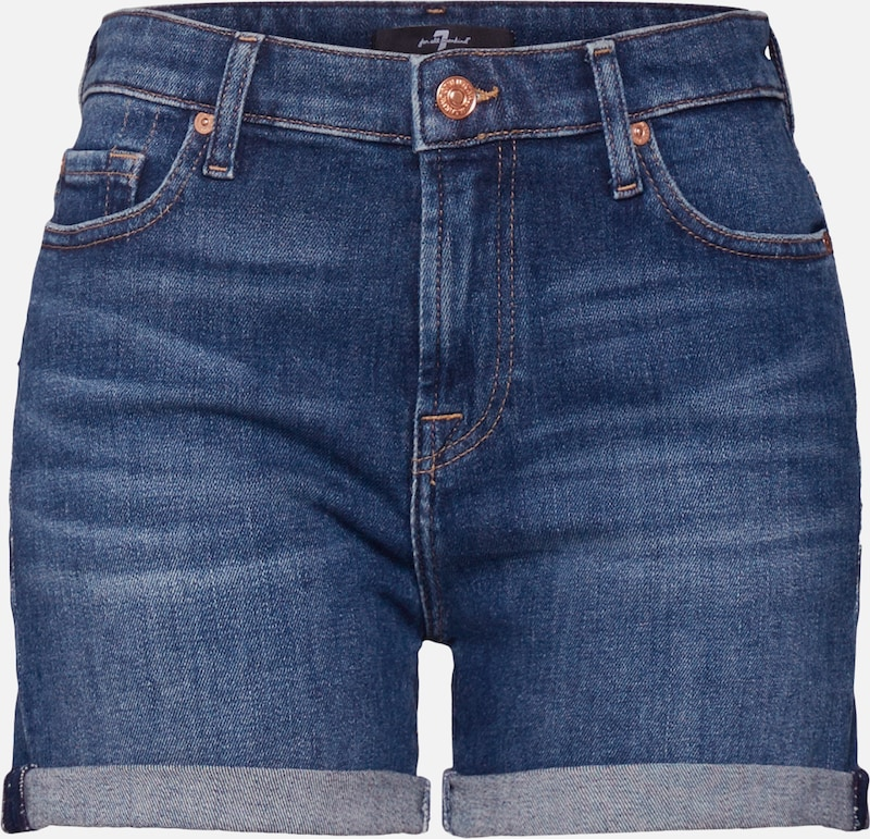 7 for all mankind Jeans 'BOY SHORTS' in blue denim, Produktansicht