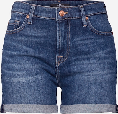 7 for all mankind Jean 'BOY SHORTS' en bleu denim, Vue avec produit