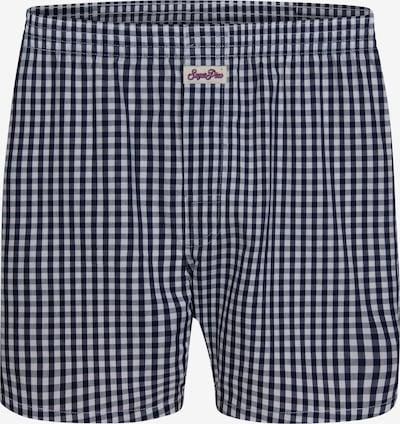 Sugar Pine Boxershorts 'Classic Check' in schwarz / weiß, Produktansicht