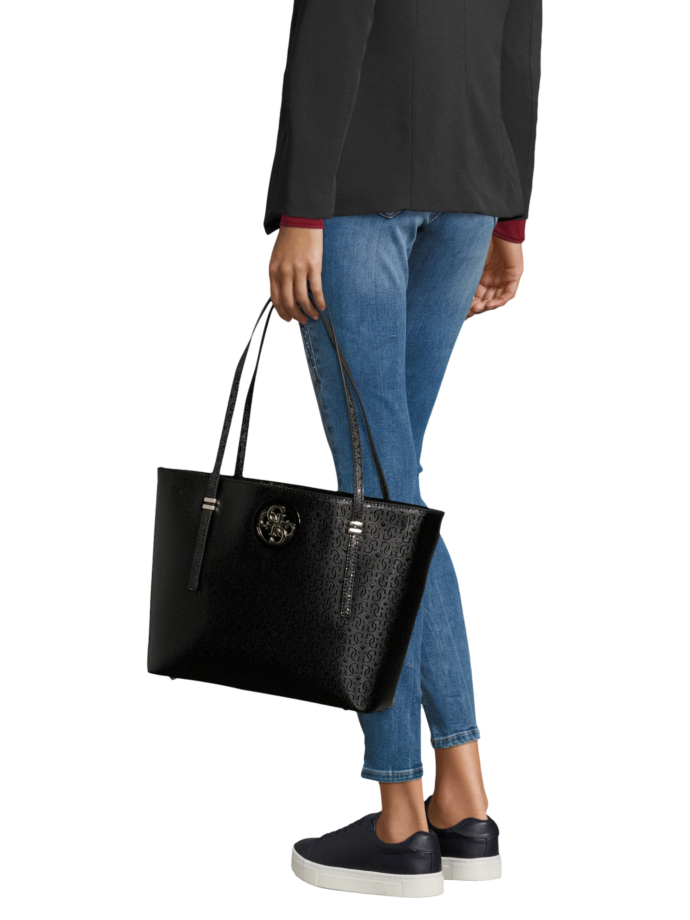 'open Road' Shopper In Guess Schwarz b7Yfgy6v