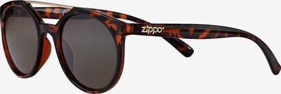 ZIPPO Sonnenbrille rund 'Smoke Flash Leopard' mit Steg in braun, Produktansicht