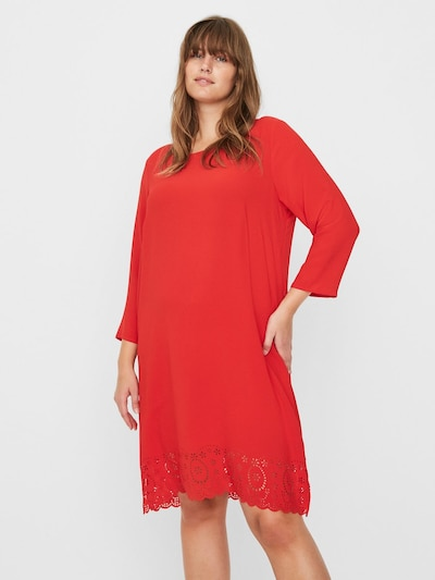 Junarose Kleid in rot, Modelansicht