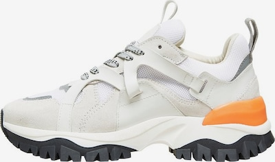 SELECTED FEMME Sneakers in graumeliert / orange / weiß, Produktansicht