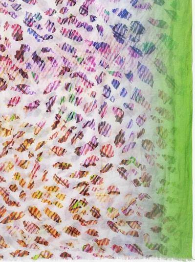 APART Schal mit Leo-Print in braun / limette, Produktansicht