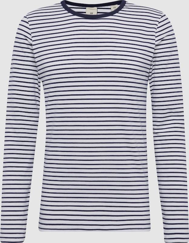 SCOTCH & SODA Langarmshirt 'Classic long sleeve jersey tee' in navy   weiß  Neu in diesem Quartal