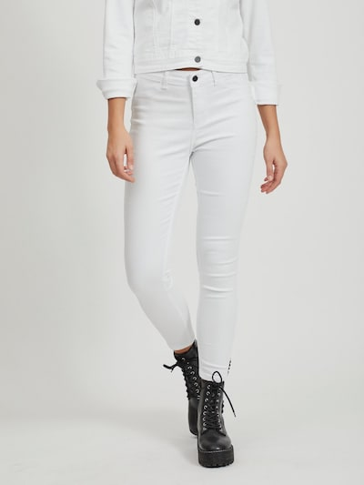 OBJECT Cropped Skinny Fit Jeans in weiß, Modelansicht