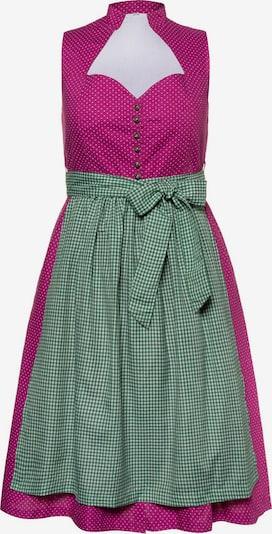 Ulla Popken Dirndl 'ANNA' in grün / pink / weiß, Produktansicht