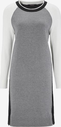 Aniston CASUAL Strickkleid in grau / schwarz / weiß, Produktansicht