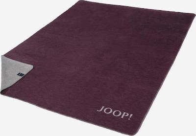 JOOP! Wohndecke 'Melange Doubleface' in grau / bordeaux, Produktansicht