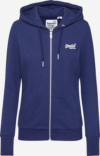 Superdry Sweatjacke 'OL ZIPHOOD UB' in navy, Produktansicht