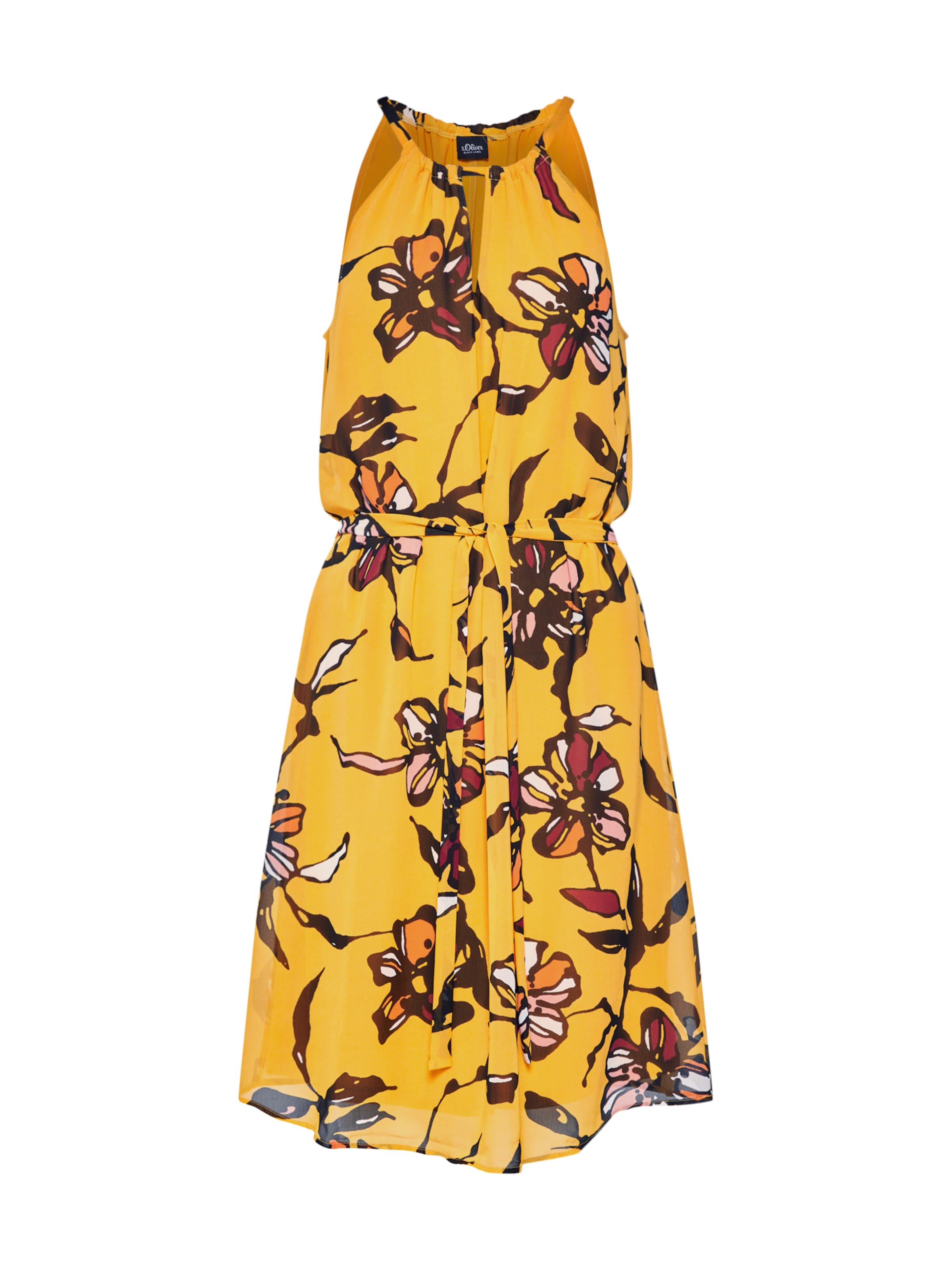 Label Kleid oliver In S OckerMischfarben Black trohdCBQsx