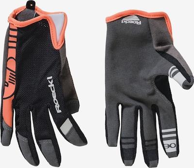 Roeckl SPORTS Fingerhandschuh 'Mango' in dunkelgrau / koralle / schwarz / weiß, Produktansicht