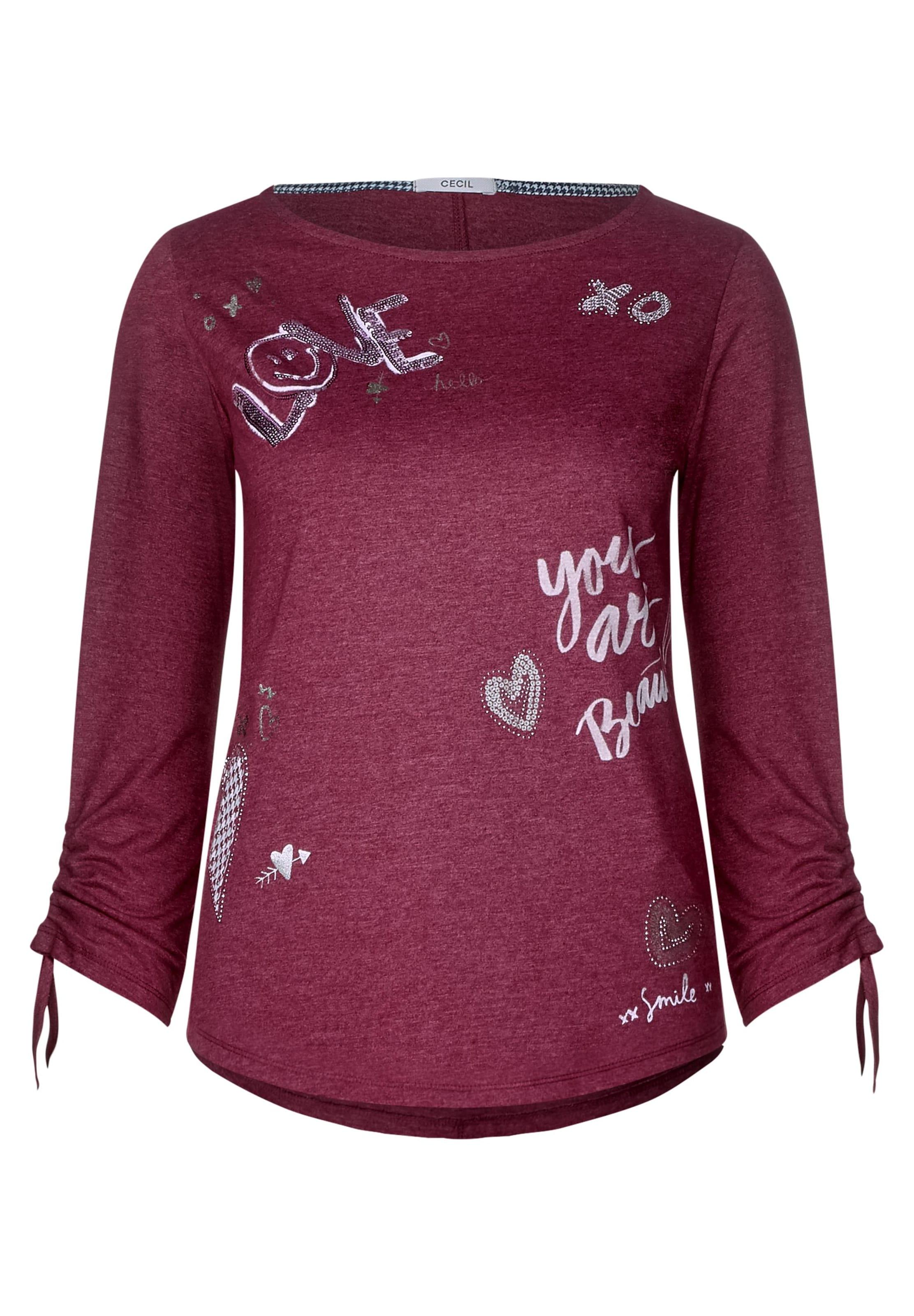 Dekor Cecil Und Print Shirt Mit In Lila m8ynv0NwO