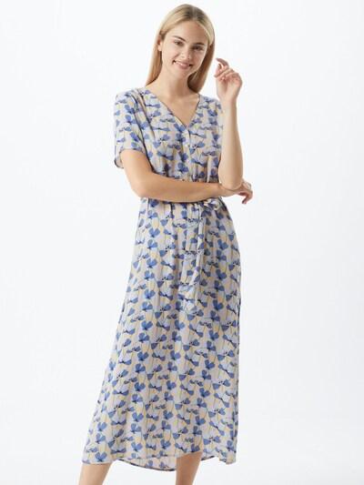 PIECES Kleid in blau / gelb / schwarz / weiß, Modelansicht