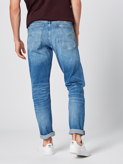 G-Star RAW Jean '3301 Tapered' en bleu denim: Vue de dos