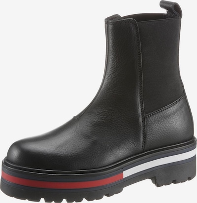 Tommy Jeans Chelsea Boots in navy / rot / schwarz, Produktansicht