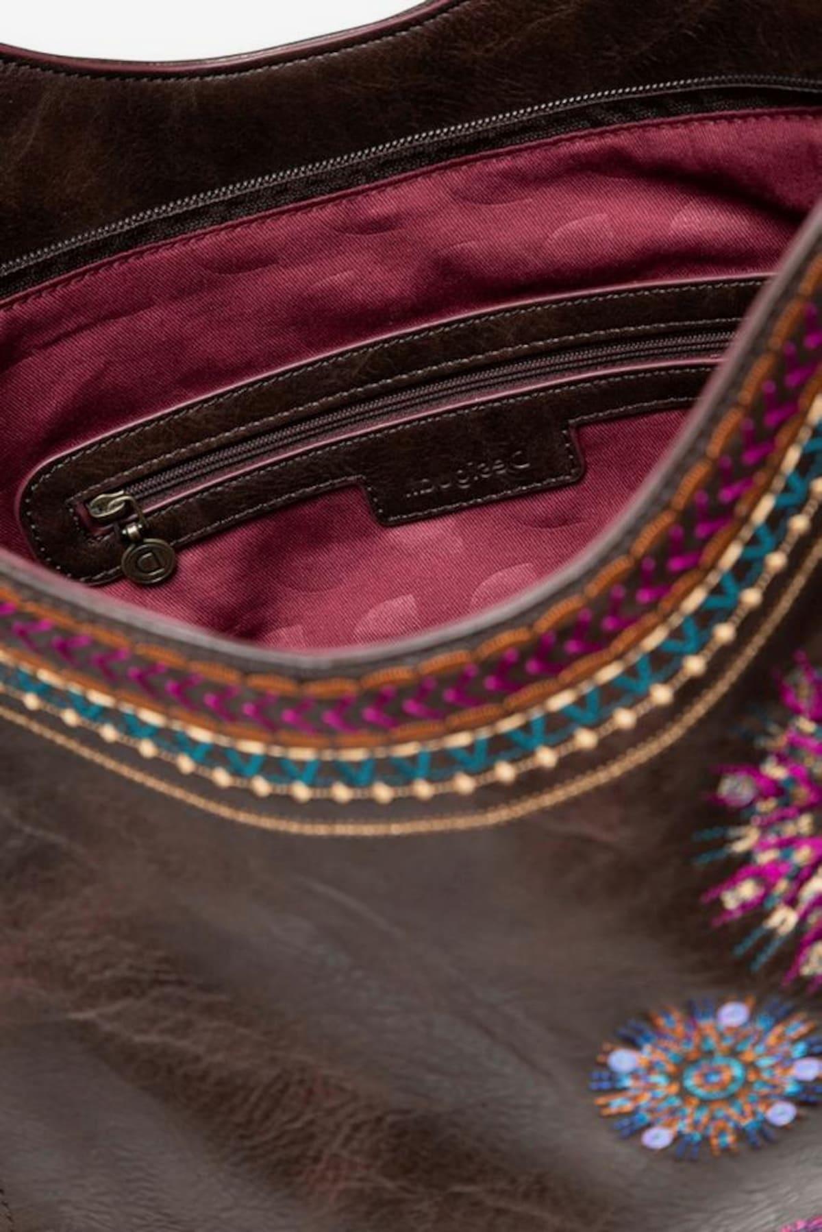 Verkoop Accessoires Desigual Shopper 'BOLS_ASTORIA ROTTERDAM' in Donkerbruin